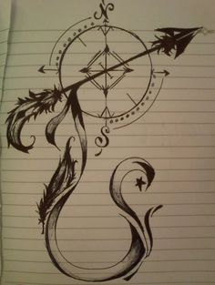 Image result for compass arrow feather
