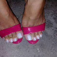 Pretty Toe Nails, Sexy Nails, Sexy Toes, Pretty Toes, Feet Soles, Women's Feet, Acrylic Toe Nails, Mary Janes, Long Toenails