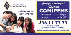 """Flyer y plegables de campaña publicitaria """"Curso COMIPEMS"""" para INSTITUTO TECNOLOGICO LUMEN GENTIUM"""