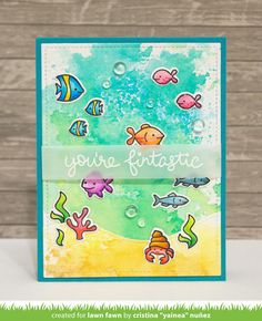 Lawn Fawn + Tombow Blog Hop!