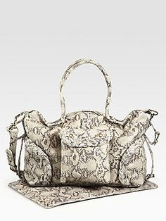 Oh yes this is a must have...Not Rational Kelly Snake-Embossed Leather Baby Bag $880