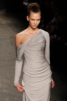 Grey dress by Donna Karan #grey #gray