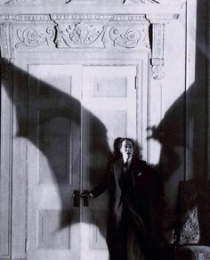 "Bat-terror before Batman. ""Ricardo Cortez in production still from D. Griffith's Faustian tale The Sorrows of Satan which was based on Marie Corelli's 1895 novel. Classic Horror Movies, Horror Films, Satan, Classic Monsters, Creatures Of The Night, Gothic Horror, Vintage Horror, Beetlejuice, Silent Film"