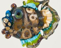 Glass Lampwork Bead - Large Unique Focal Glass Angler Fish