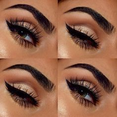 Neutral cut crease eye look with fabulous lashes on Metallic Makeup, Glam Makeup, Pretty Makeup, Love Makeup, Makeup Inspo, Beauty Makeup, Makeup Ideas, Nyc Cosmetics, Makeup Cosmetics