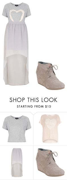 """""""violetta 2"""" by maria-look ❤ liked on Polyvore featuring Topshop, Voulez Vous, River Island, TOMS, women's clothing, women, female, woman, misses and juniors"""