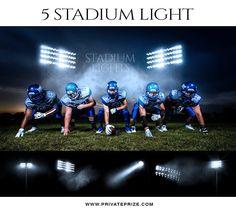 5 Stadium Light Overlays - Designer Pearls
