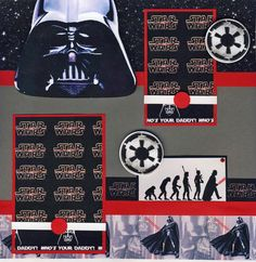 Who's Your Daddy Darth Vader Star Wars Boy 2 Premade Scrapbook Pages by Cherry | eBay