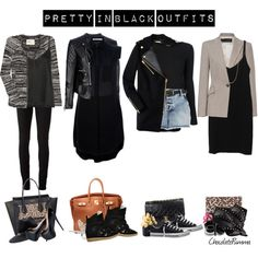 """1204. Pretty in Black Outfits ..."" by chocolatepumma on Polyvore"
