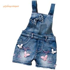 Comprar 2016 SPRING Summer US Style Girl Jumpsuit Cute Sweet Fashion Washed Jeans Denim Romper Jumpsuits Straps Short Pants Cowboy Blue . Overalls Plus Size, Blue Overalls, Moda Jeans, Jeans Denim, Baby Jeans, Girls Jeans, Kids Fashion, Sweet Fashion, Blue Fashion