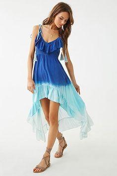 505ef0f32b Boho Me Ombre Tie-Dye High-Low Dress F21