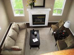 Living room staged by On Stage - Home Staging in Courtice Ontario