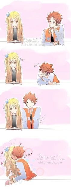Fairy Tail or Nalu by chiire on DeviantArt Fairy Tail Lucy, Fairy Tail Meme, Fairy Tale Anime, Fairy Tail Comics, Fairy Tail Family, Fairy Tail Art, Fairy Tail Guild, Fairy Tail Couples, Fairy Tail Ships