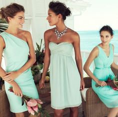 53 Cool Beach Bridesmaids' Dresses | HappyWedd.com