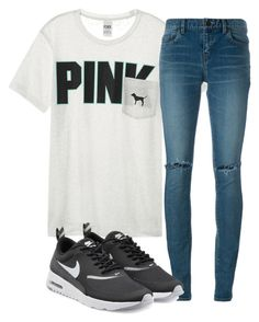 """""""Untitled #820"""" by aaisha123 ❤ liked on Polyvore featuring Victoria's Secret, Yves Saint Laurent and NIKE"""