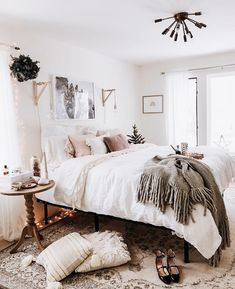 Love the sconces. 32 Beautiful Bedroom Decor Ideas for Compact Departments; For smart small apartment decorating ideas on a budget, look to accessories. bedroom decor ideas for teens. Cozy Bedroom, Bedroom Inspo, Dream Bedroom, Home Decor Bedroom, Bedroom Ideas, Master Bedroom, Modern Bedroom, Budget Bedroom, Contemporary Bedroom