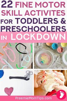 22 Fine Motor Skill Activities for Kids During Lockdown