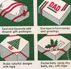 Vintage Scotch Christmas Tape Packaging