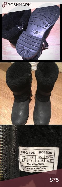 Ugg Boots Worn once because I bought a half size too small.   Super cute with leggings and skinny jeans.  Very cozy and comfy fit. UGG Shoes Ankle Boots & Booties