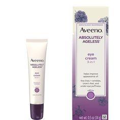 Aveeno Absolutely Ageless Eye Cream Aveeno Absolutely Ageless Eye Cream, Best Under Eye Cream, Under Eye Puffiness, Anti Aging Eye Cream, Crows Feet, How To Apply Makeup, Beauty Skin, Skincare, Eyes