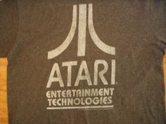 Classic Retro Atari Games Gray T-Shirt Men's Medium