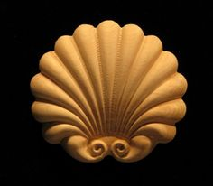 Carved Wood Onlay Applique - Carved Jubilee Shell