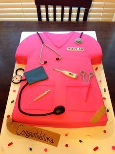 Nurses scrub cake