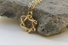 Gold Star of david necklace  Dainty gold necklace by RomisJewelry