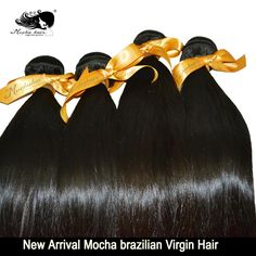 14,16,18, $145.50! 6A Unprocessed Mocha Hair Products 3 pcs Lot Brazilian Virgin Hair Extension Wholesale Straight Human Hair Weaves Free Shipping