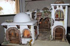 BELENES-SANCHO-CALAMOCHA: VILLA Nº 2 Dolly House, Ceramic Fish, Beaded Christmas Ornaments, Ceramic Houses, Mixed Media Canvas, Xmas Decorations, Nativity, Taj Mahal, Villa
