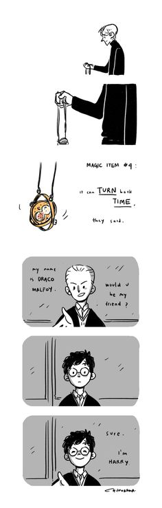 Draco Malfoy and Harry Potter #comic