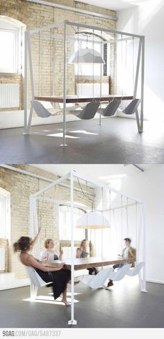 Every meeting can be more interesting with this Swing Table.