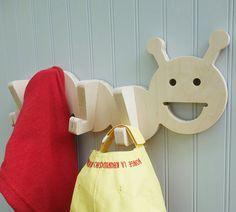 Caterpillar kids' room animal wall hook: playful by thejunglehook