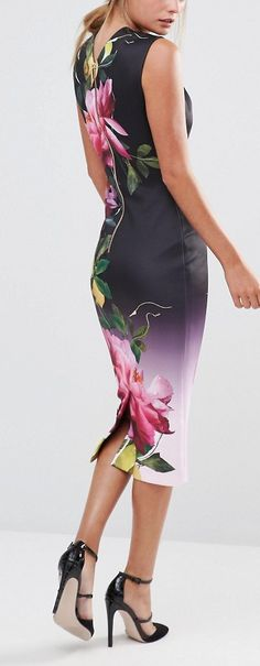 Ted Baker Oldiva Bodycon Dress in Citrus Bloom Print