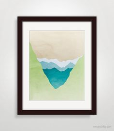 Mountains Minimal Poster Abstract Landscape Art by evesand on Etsy, $18.00