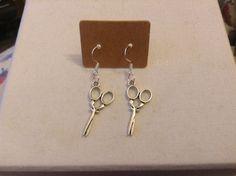Handmade Charm Silver Earrings - Sissors   eBay