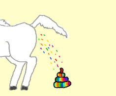 Cute Unicorns Pooping Out Rainbows   Unicorns Poop Is Rainbows!