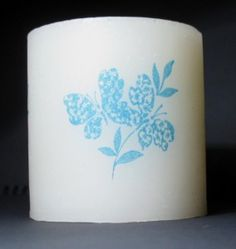 Transfer images to Candles via Tissue paper