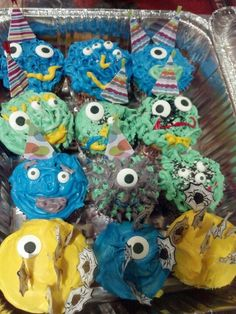 Lil monster cupcakes