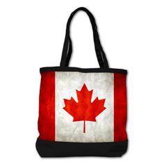 Shoulder Bag Purse (2-Sided) Black Canadian Flag Grunge