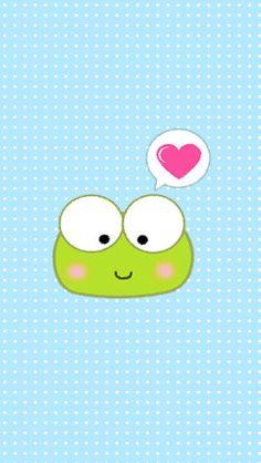 Keroppi in love Keroppi Wallpaper, Frog Wallpaper, Cute Wallpaper For Phone, Computer Wallpaper, Cellphone Wallpaper, Mobile Wallpaper, Iphone Wallpaper, Beautiful Wallpapers For Iphone, Cute Wallpapers