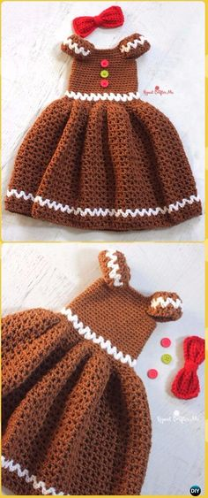 Crochet Crochet Girl Gingerbread Dress Free Pattern - Crochet Girls Dress Free Patterns