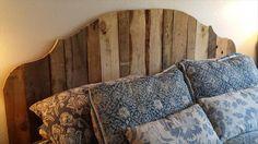 wood pallet headboard ideas - Google Search