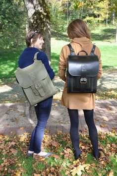 Large handmade leather backpack.  For men or women- take it with you to work, to school, or to the trails, or even on a short day tour - this bag will
