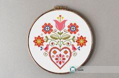 Folk motifs cross stitch pattern,modern pattern, PDF, DIY ** instant download**free shipping