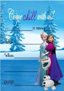 Free Frozen Birthday Party Invitations