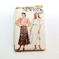 Womans Long Skirt and Dress Blouse Uncut and by FloridaQuarry
