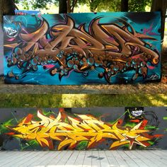 Dope pieces by Wuper in Serbia. More pics at http://globalstreetart.com/wuper.