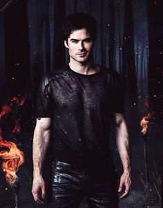 Damon Salvatore enflammé