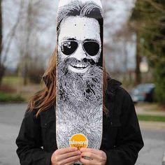 Chris Haslam, the best beard skateboarder!